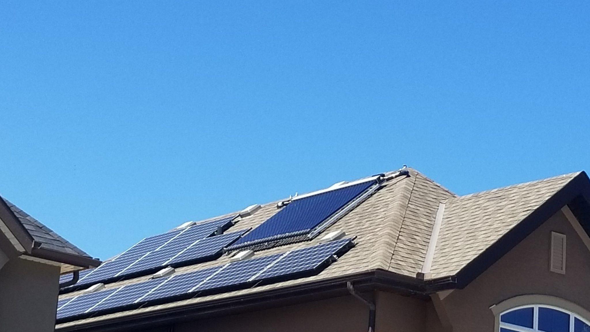 Solar PV + Solar Thermal, Calgary, AB