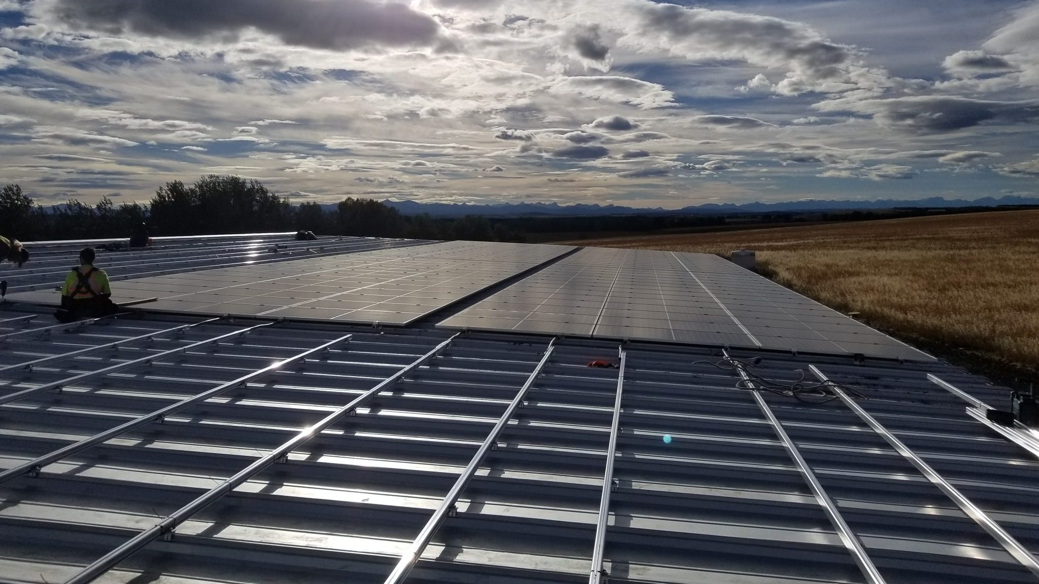415kW during construction, Springbank